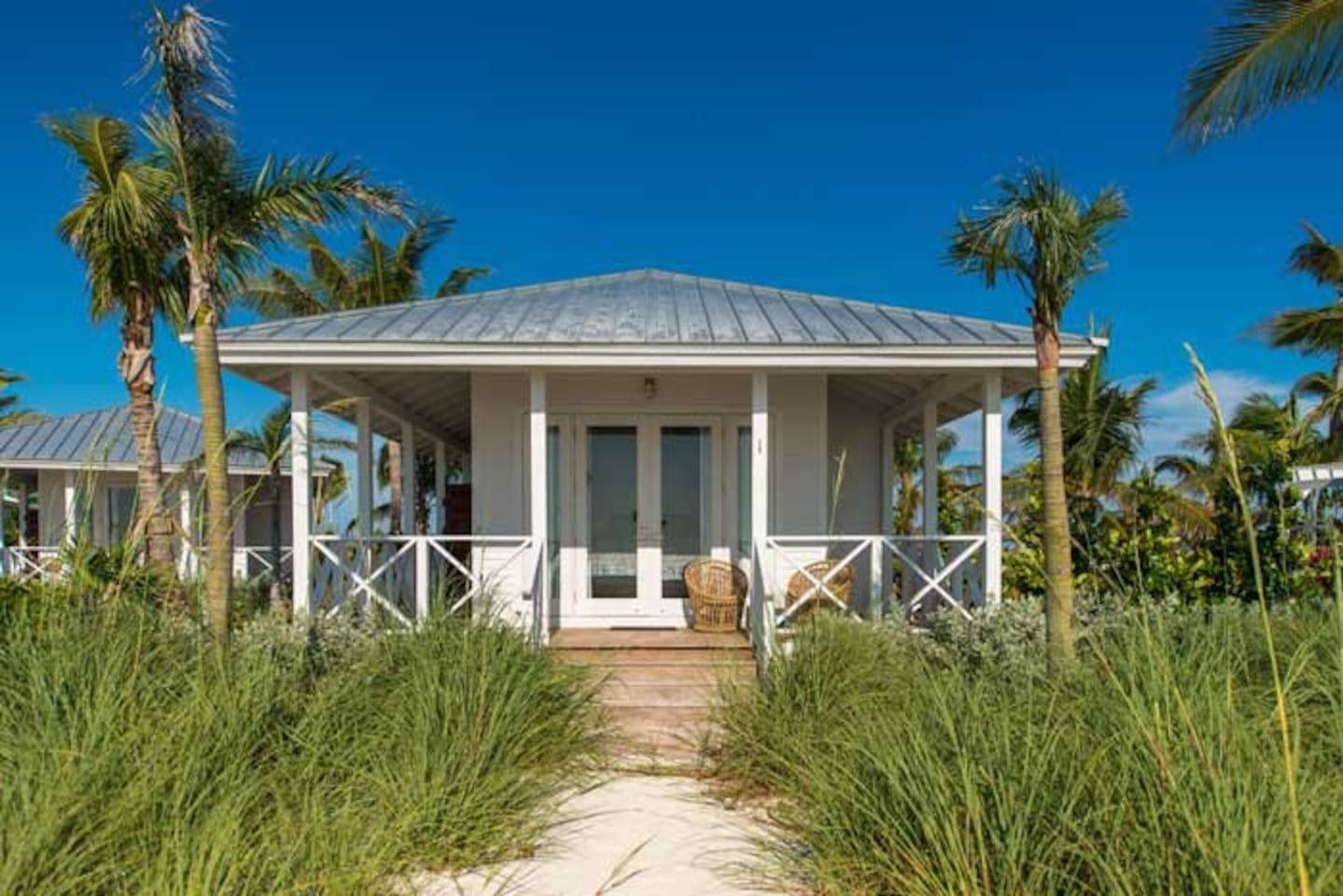 Step off the front porch of your cabana and right into the warm sands of Sunset Beach.
