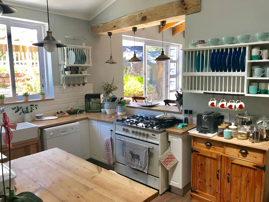 Farmhouse style kitchen with all essential appliances
