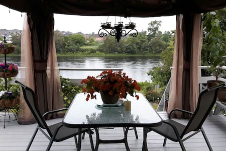 Moira river Waterview from the upper deck gazebo