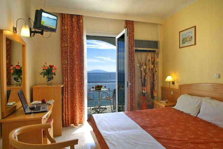 Hotel Tolo is located on a wonderful sandy beach!
