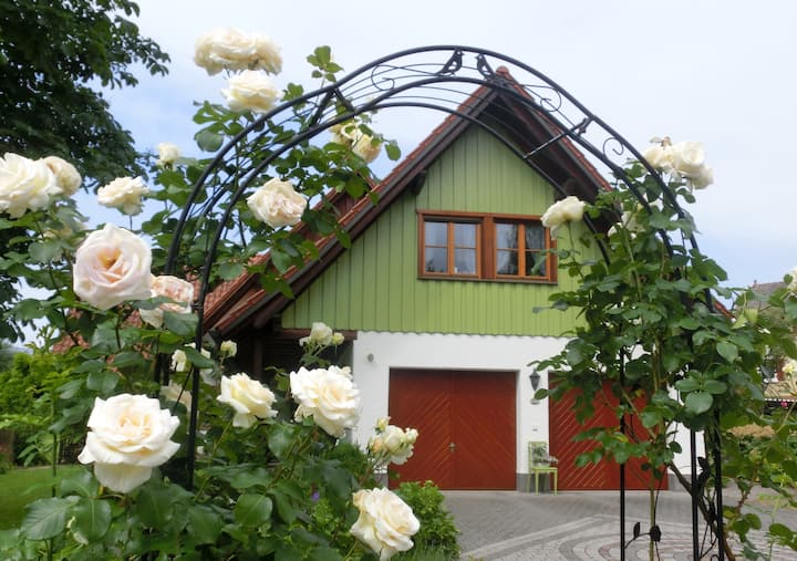 """Charming Attic Apartment """"Ferienwohnung Henne"""" near Lake Constance with Wi-Fi, Balcony & Garden; Parking Available"""