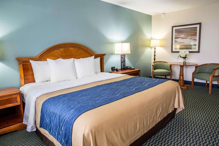 Modern Double Bed At Kill Devil Hills