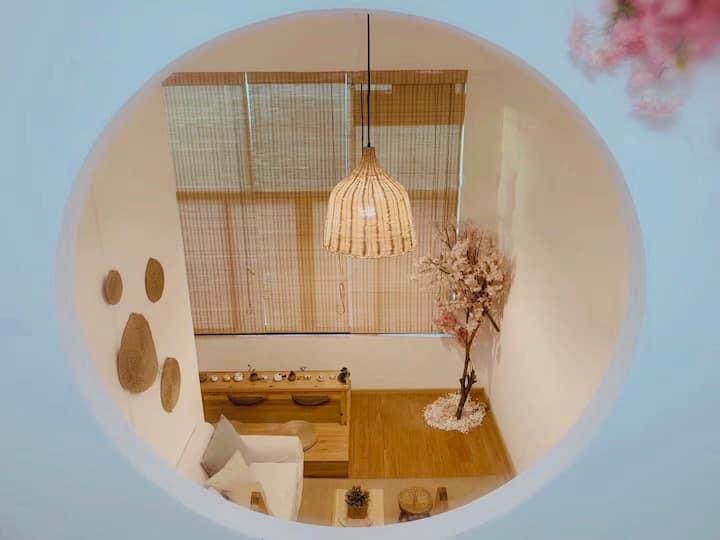 【悠然】疫情期间先咨询\市中心loft\日式樱花\超大窗户