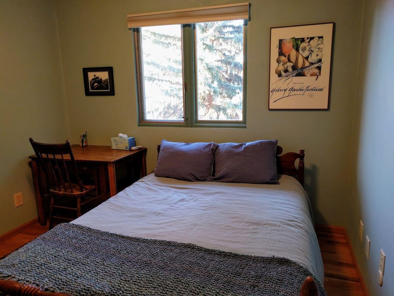 Cozy room with plenty of closet space