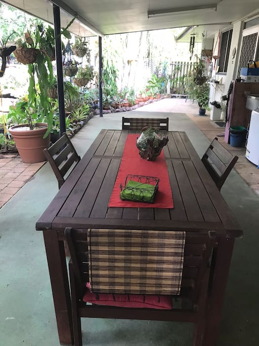 Open spaces on the verandah