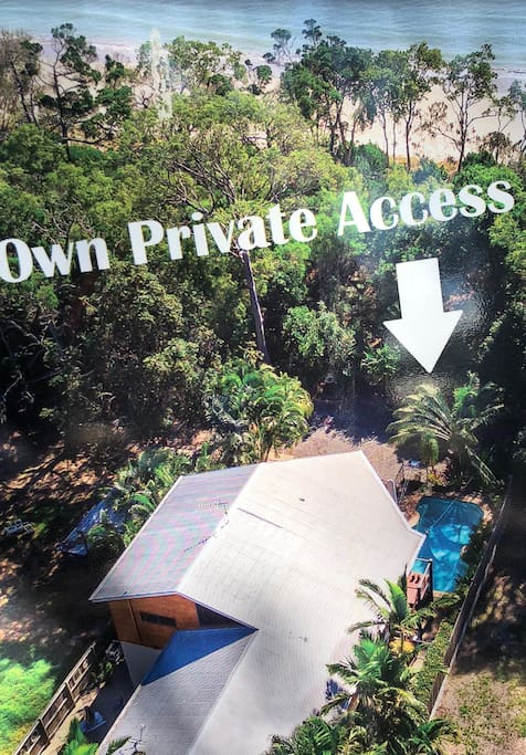 Own private access to the Toogoom Beach