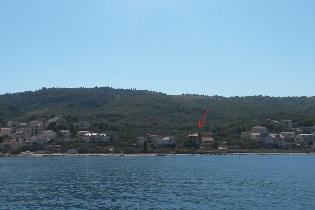 our guesthouse - located on the island of Ciovo (first row)