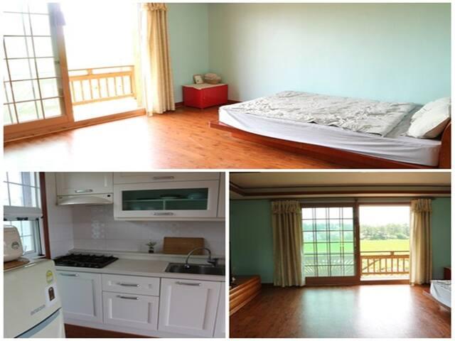 slowtravel, 바닷가 동네에서 편안한 휴식, 침대가 있는 깔끔한 객실 - Nam-myeon, Taean-gun - Apto. en complejo residencial