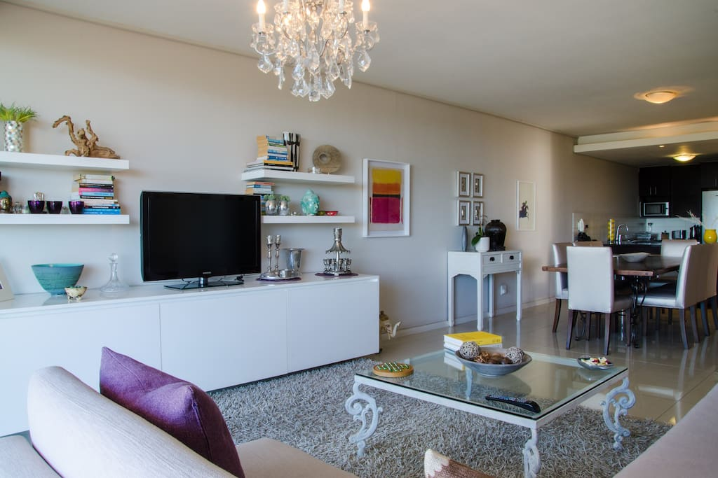 Open-plan living room and dining area