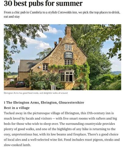 Our Local pub - voted Best Village Inn by the Sunday Times