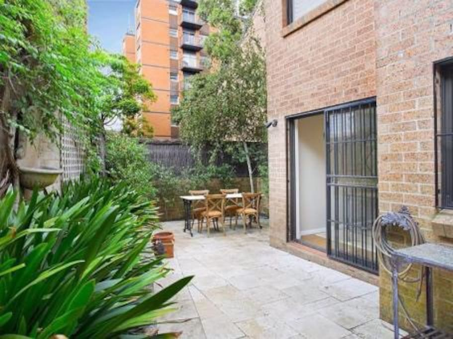 Courtyard suitable for entertaining and gets great light in the summer