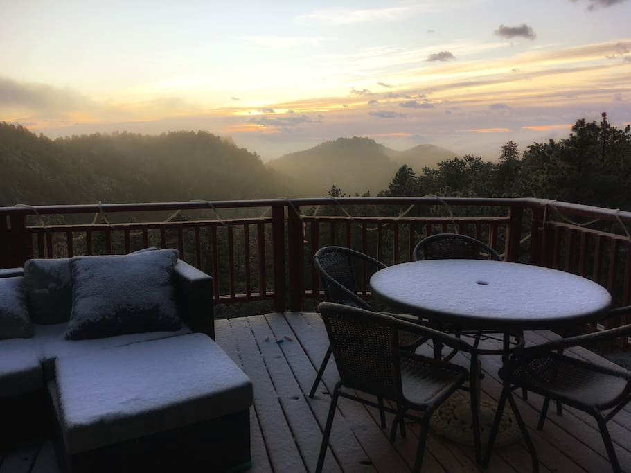 Cold deck view at sunrise