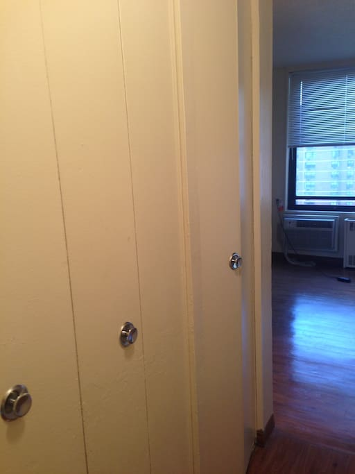 3 big closets and storage space
