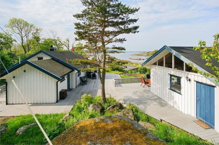 Hytte med anneks,utsikt,strand,skjermet perle - Larvik - กระท่อม