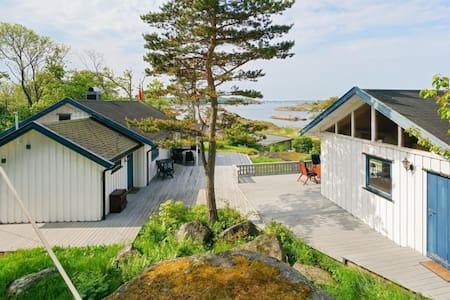 Hytte med anneks,utsikt,strand,skjermet perle - Larvik - Cabin