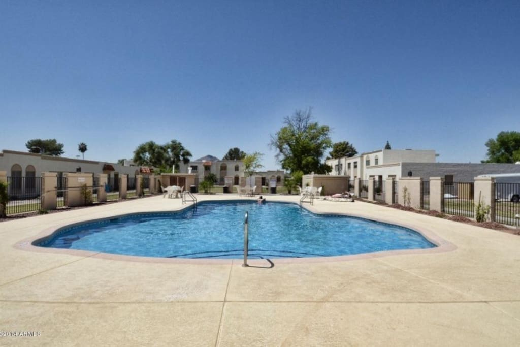 Awesome community pool, and it's heated!