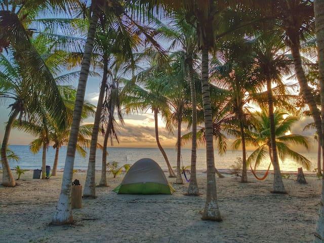 Camping  Cielo y Selva Sian Ka'an (Beachfront)