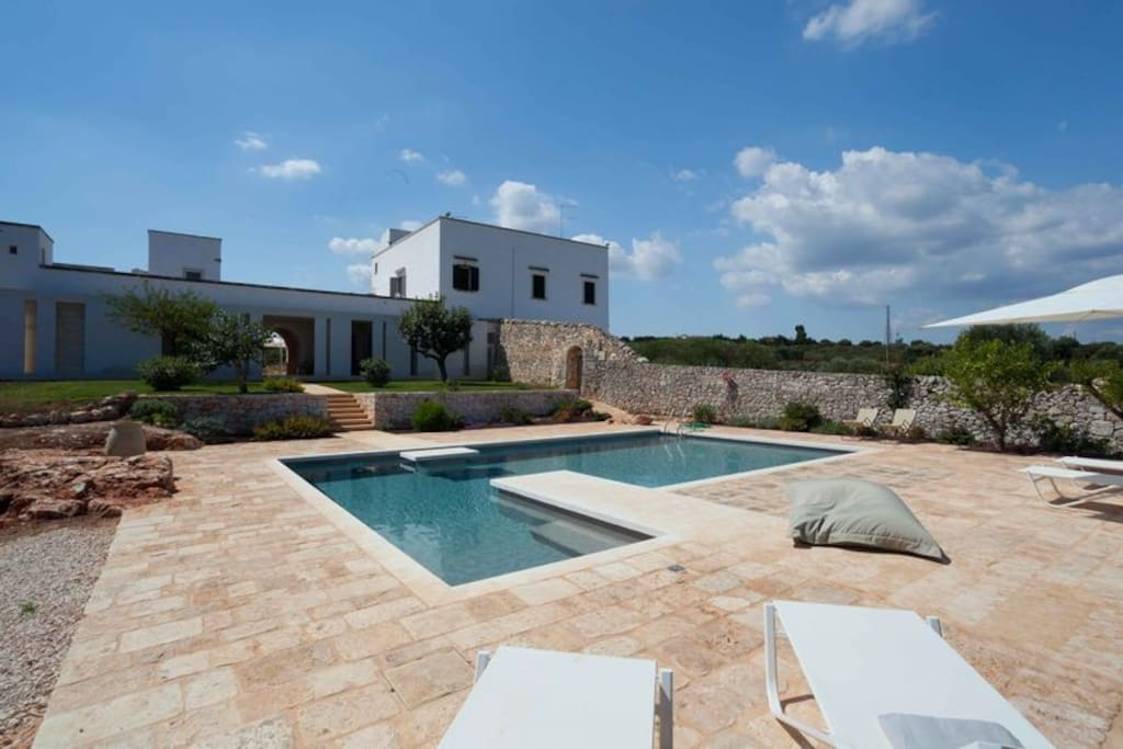 Our Masseria from the swimming pool