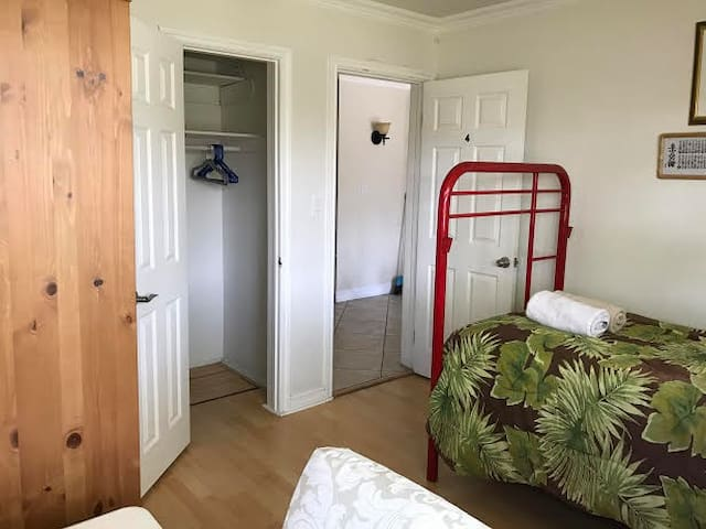 Two spacious closets