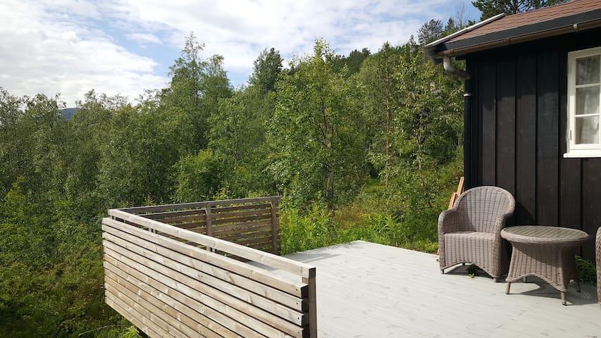 Koselig terrasse.