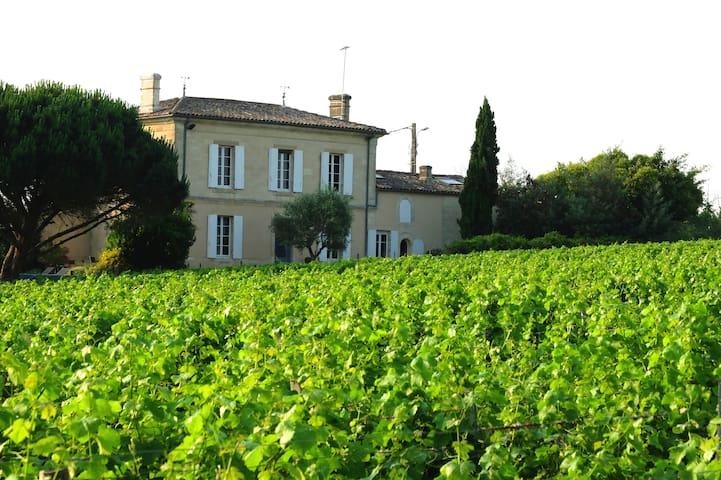 Maison au milieu des vignes du Château d'Yquem