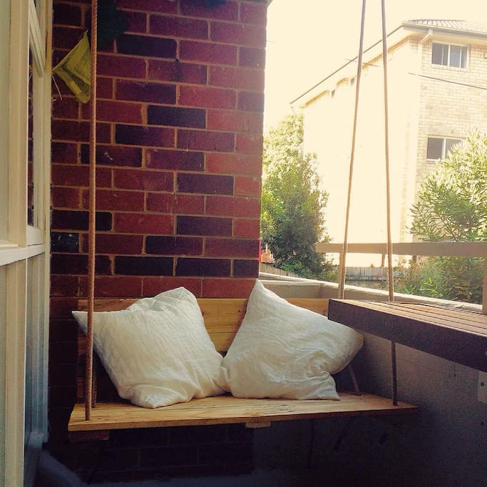 Balcony for your morning coffee.