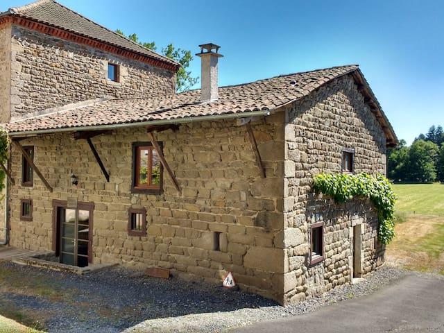 Ruime comfortabele gîte in een oase van rust - Saint-Dier-d'Auvergne - Kabin