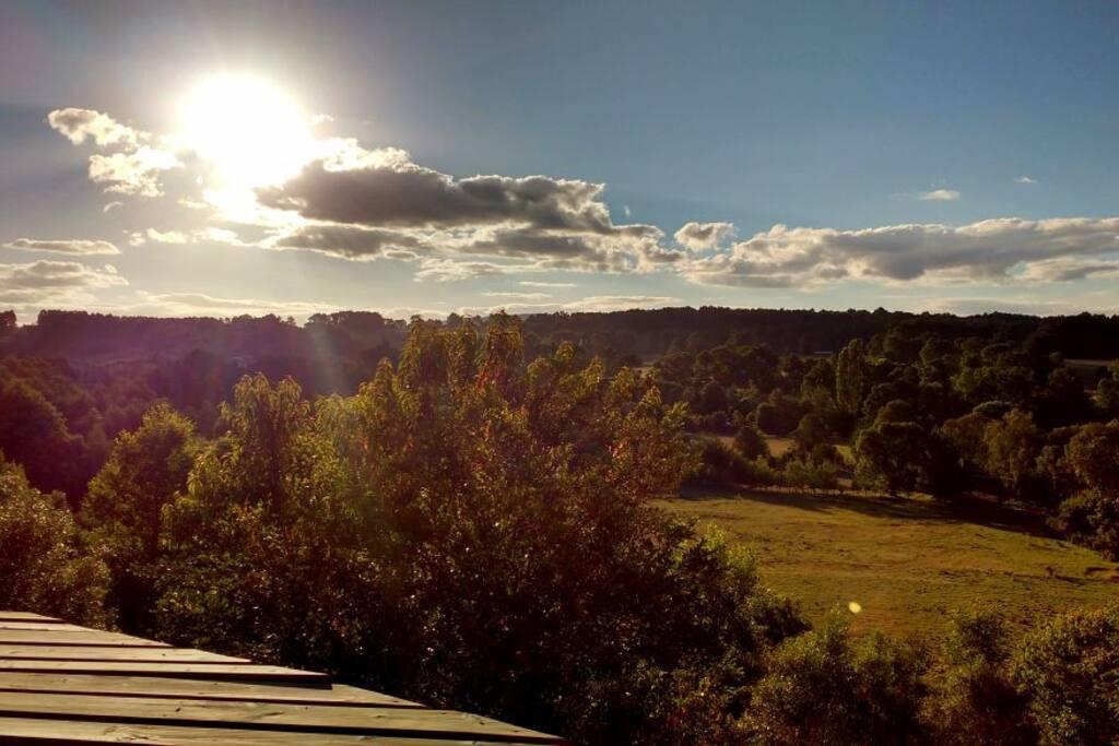 Vista al Poniente, dominio visual desde la terraza
