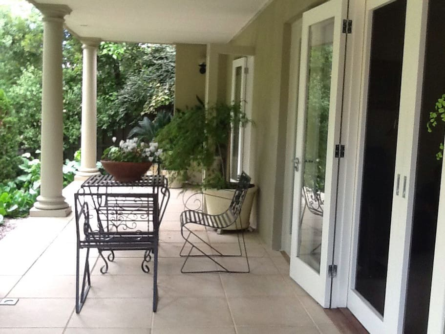 This is the downstairs front porch.