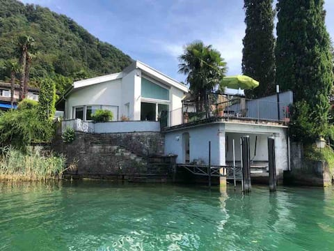 Waterfront villa with private water access