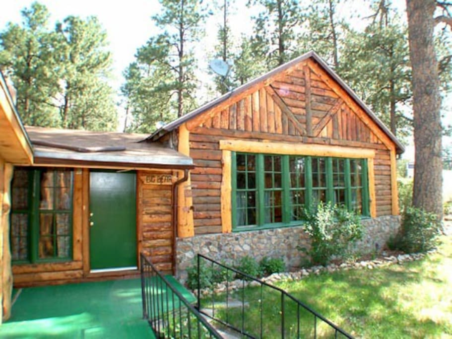 Big bear cottages for rent in ruidoso new mexico for 6 bedroom cabins in ruidoso nm