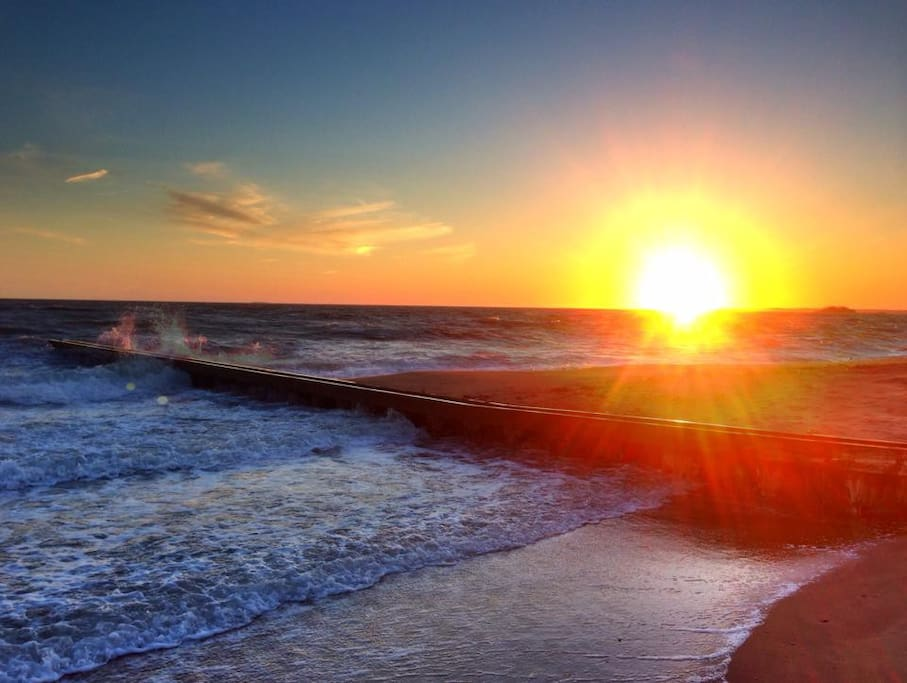 Photograph beautiful sunrises and sunsets at Webster Point beach.