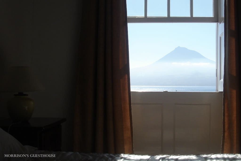 View to the ocean and Pico mountain from the couples's room.