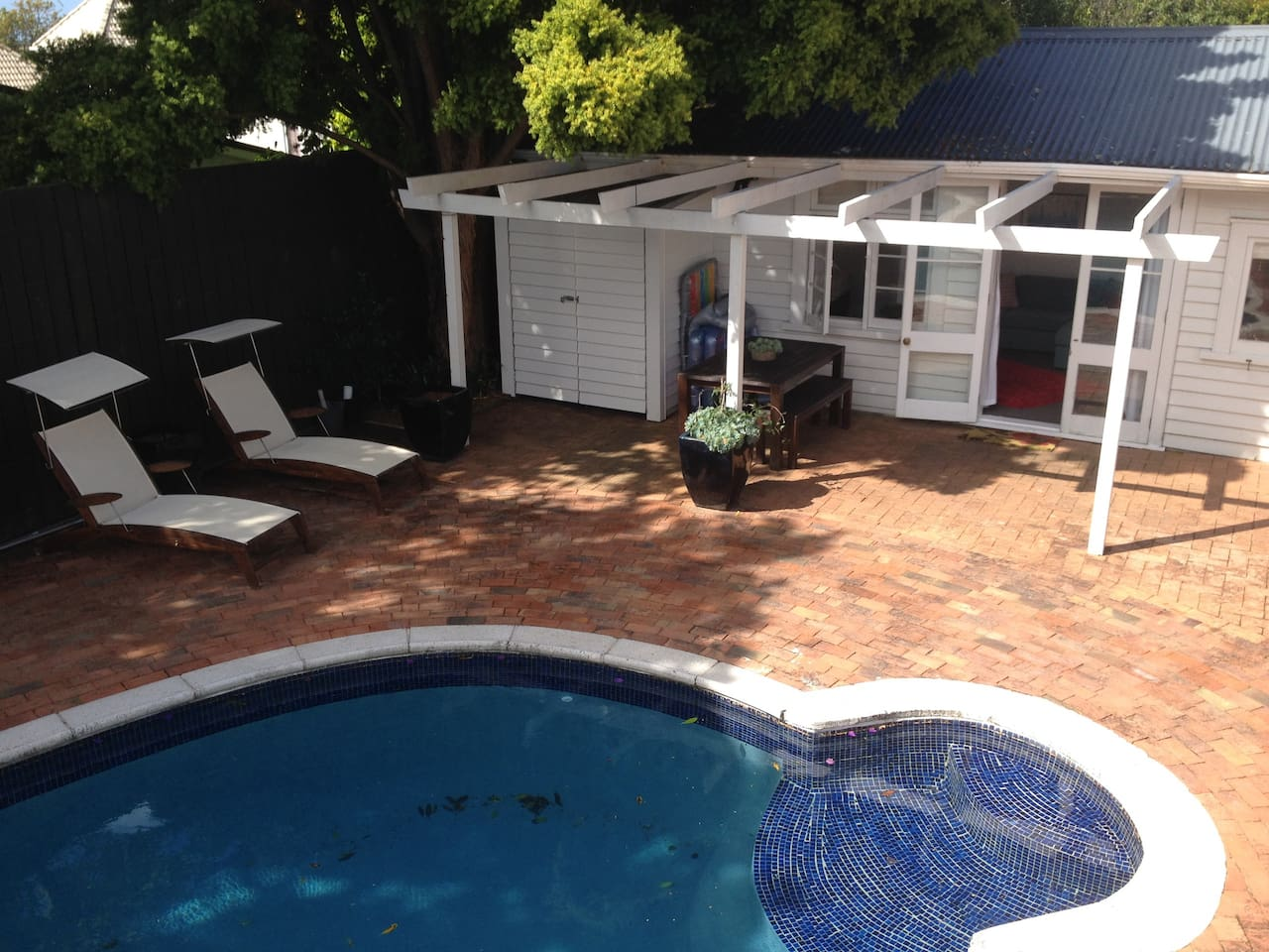 Welcome to our poolside cottage!