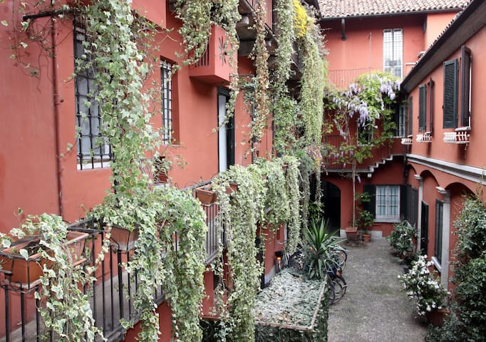 The most charming courtyard on Navigli