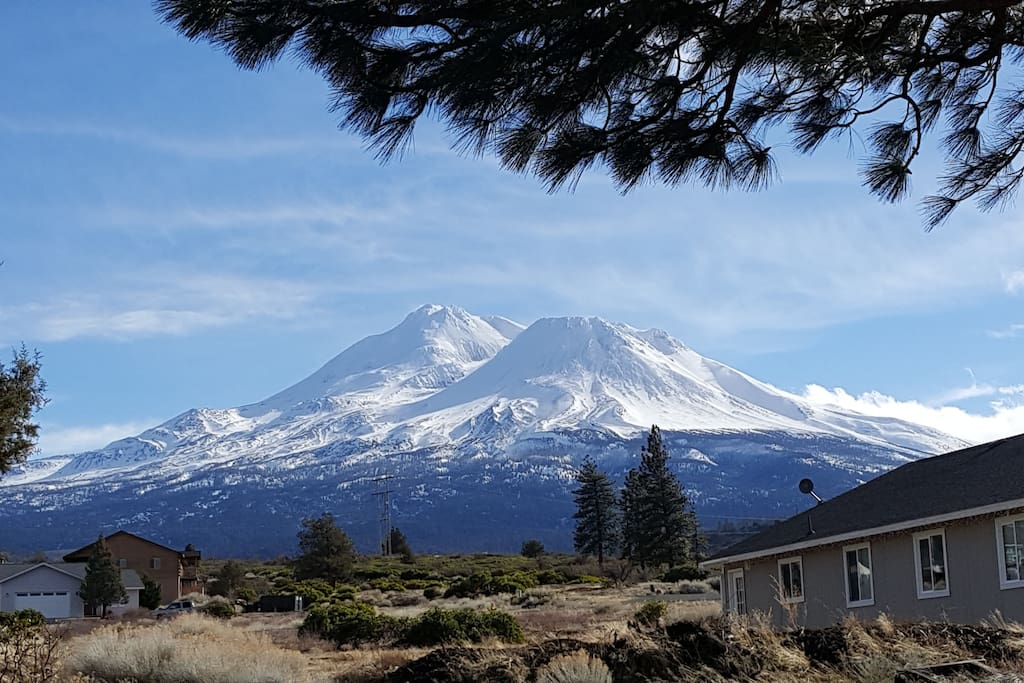 This is YOUR VIEW of Mt. Shasta from the backyard!