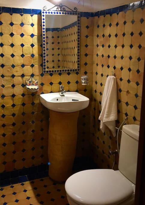 Each room has a private bathroom