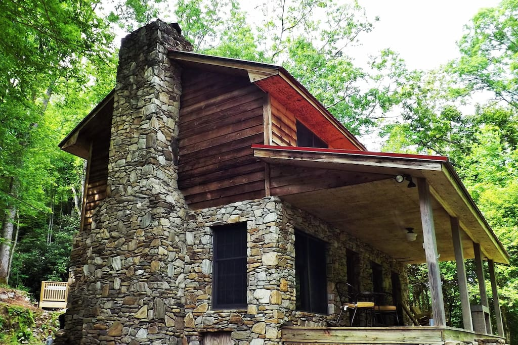 Serenity falls 25 acres babbling creek sparkling hot - 4 bedroom cabins in north carolina ...