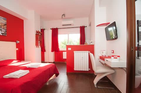 Studio with kitchenette and private bathroom