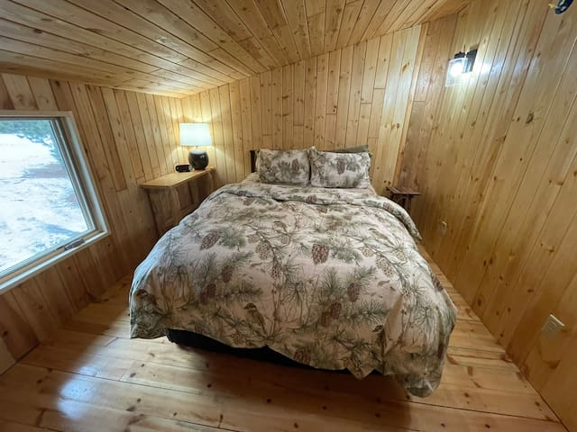Upper  Level Private Bedroom with Queen bed.