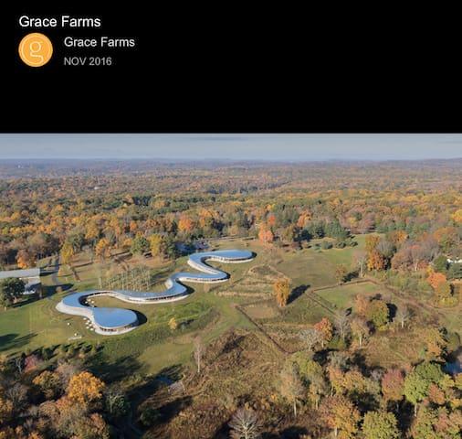 Grace Farms   new cannan CT  10 min away