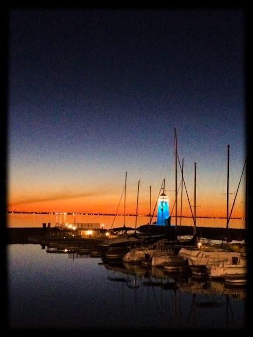Last of sunset Lake Hefner OKC