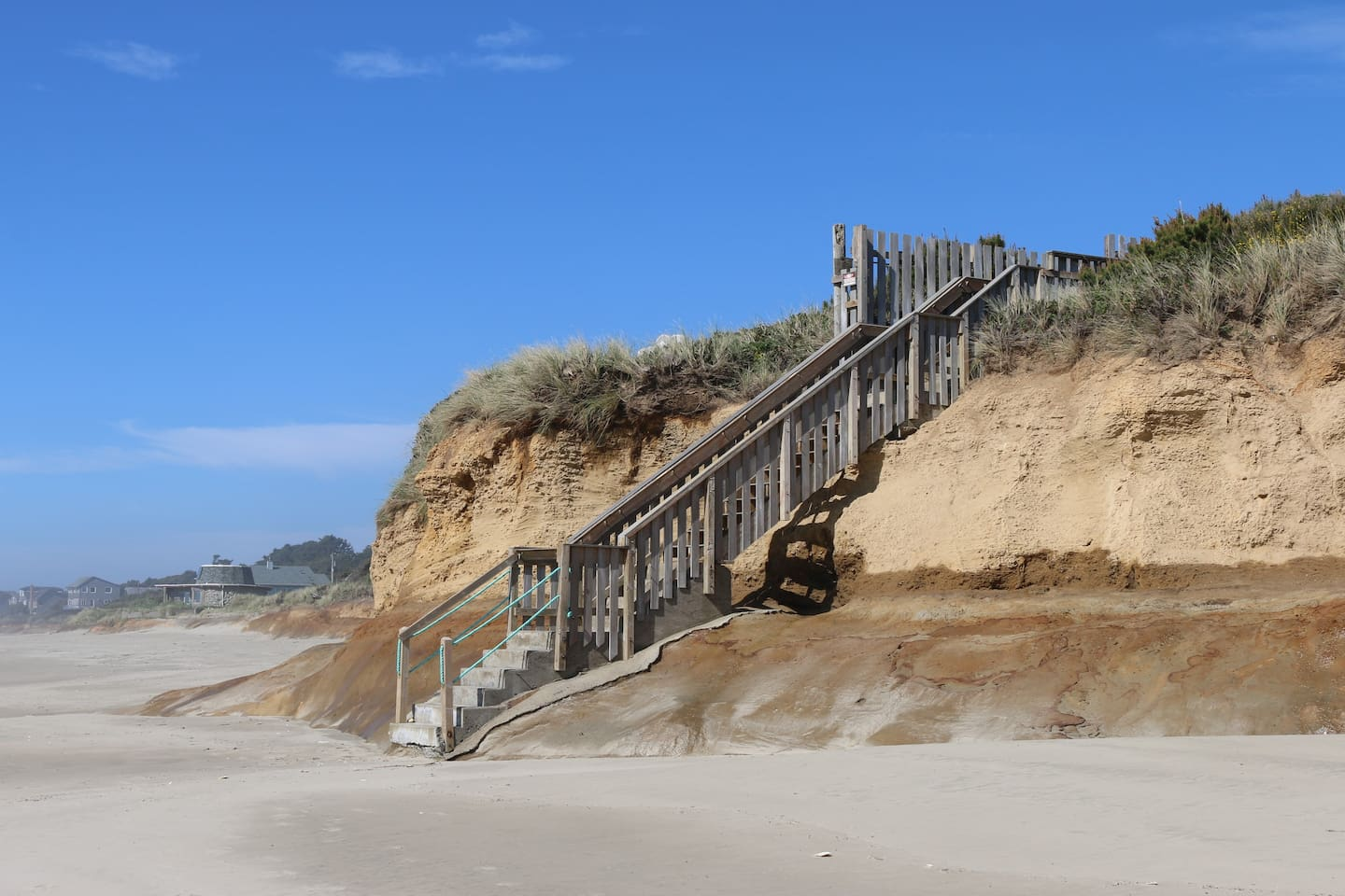 only steps to private stairs to 7 miles of beach