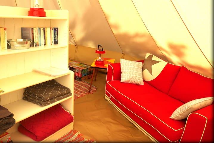 Glamping Jardin d'Etoiles -  Tent de luxe 28m2