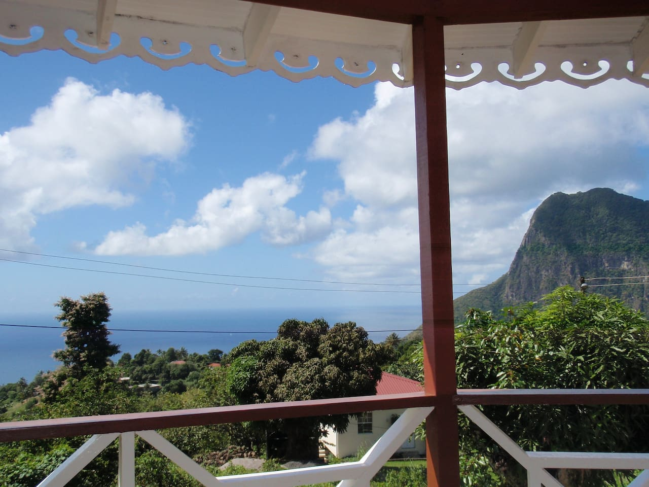 Balcony over looking at the piton