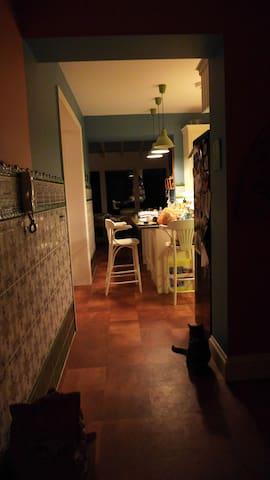 Kitchen, hall