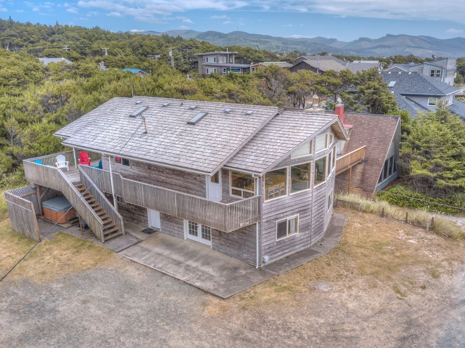 Aerial view of Sitka House