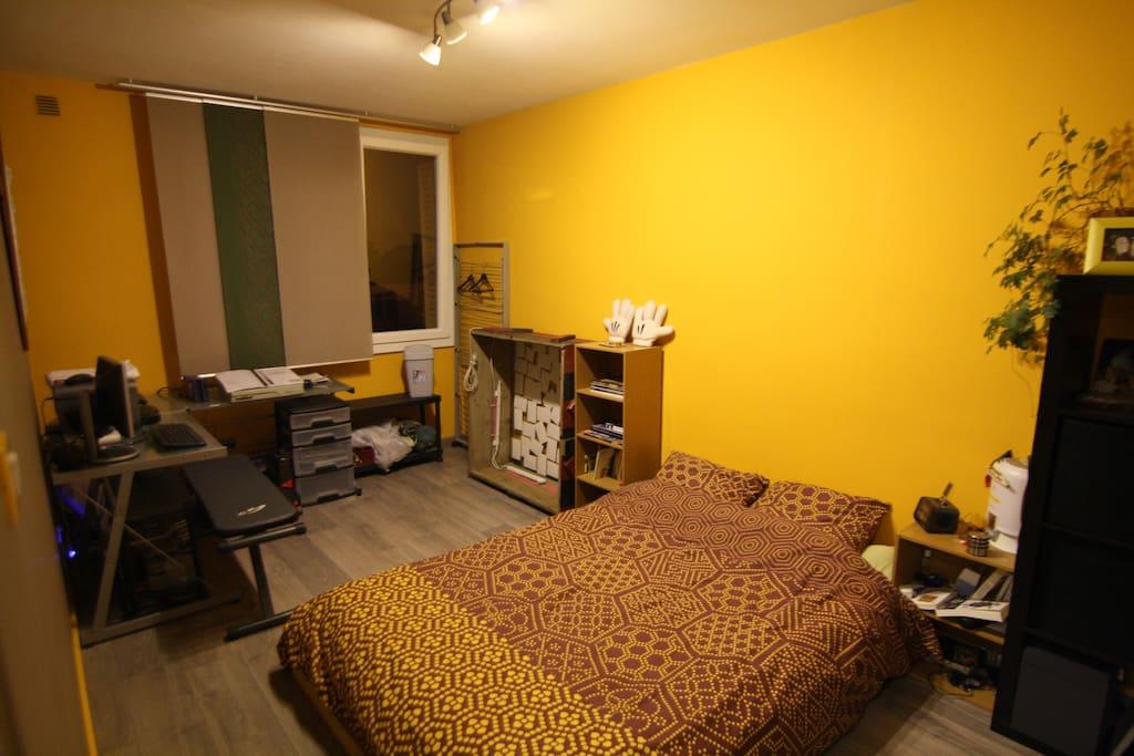 Chambre spacieuse et chaleureuse