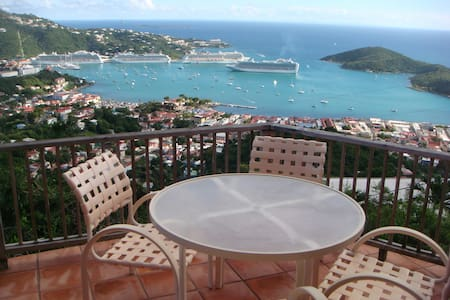 Studio, panoramic view of harbor - St. Thomas, US Virgin Islands - Appartamento