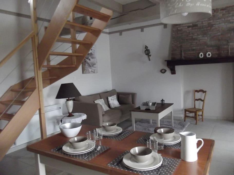 salon/salle à manger cosy